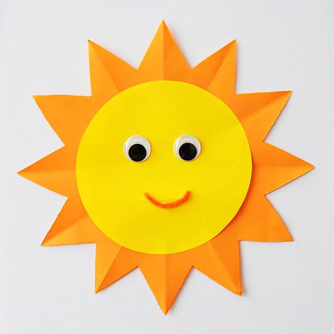 How to make paper sunshine